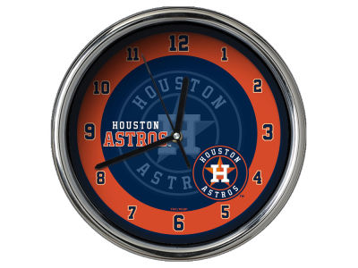 Houston Astros Chrome Clock II