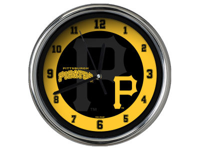 Pittsburgh Pirates Chrome Clock II