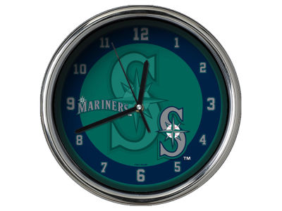 Seattle Mariners Chrome Clock II