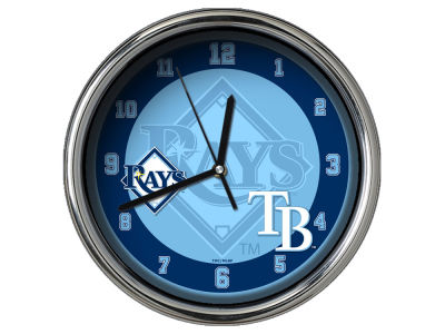Tampa Bay Rays Chrome Clock II