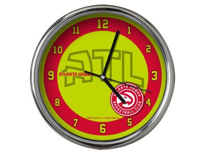 Atlanta Hawks Chrome Clock II