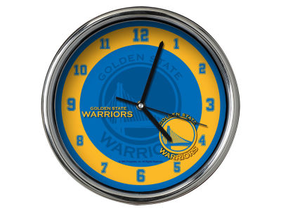 Golden State Warriors Chrome Clock II