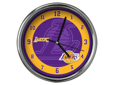 Los Angeles Lakers Chrome Clock II