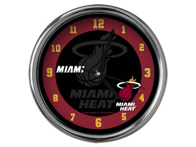 Miami Heat Chrome Clock II