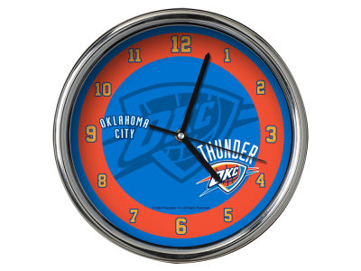 Oklahoma City Thunder Chrome Clock II