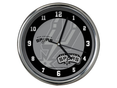 San Antonio Spurs Chrome Clock II