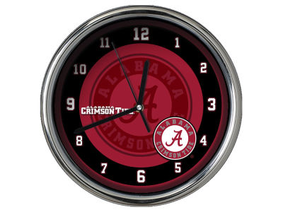 Alabama Crimson Tide Chrome Clock II