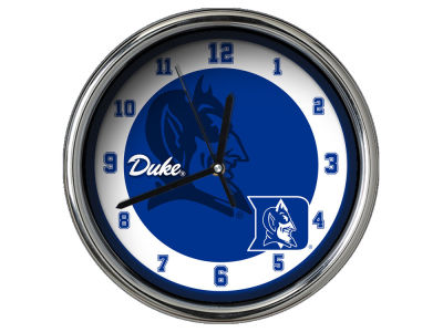 Duke Blue Devils Chrome Clock II