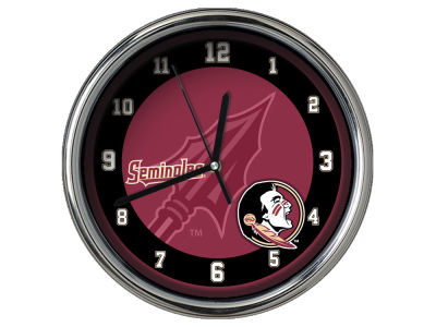 Florida State Seminoles Chrome Clock II