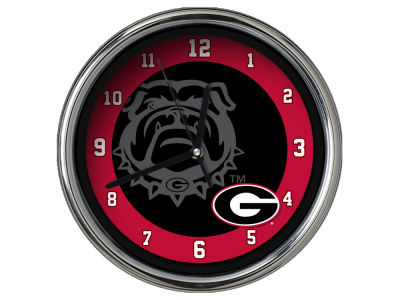 Georgia Bulldogs Chrome Clock II