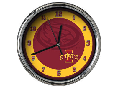 Iowa State Cyclones Chrome Clock II