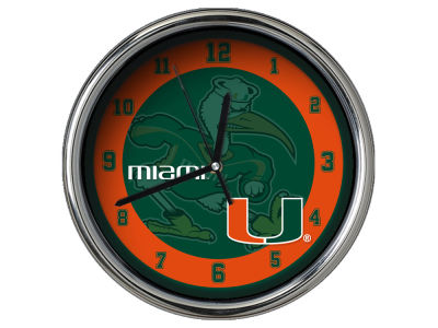 Miami Hurricanes Chrome Clock II