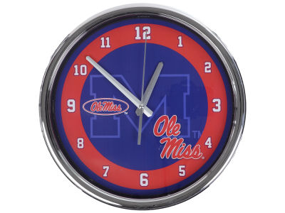 Ole Miss Rebels Chrome Clock II