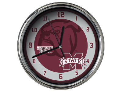 Mississippi State Bulldogs Chrome Clock II