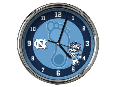 North Carolina Tar Heels Chrome Clock II