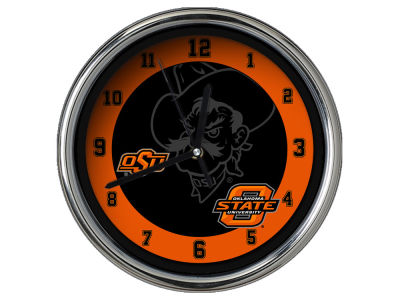 Oklahoma State Cowboys Chrome Clock II