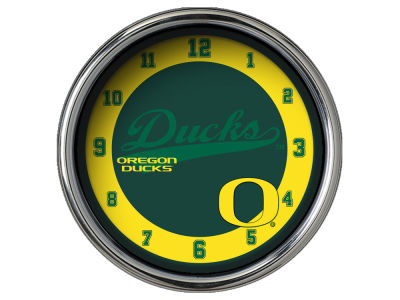 Oregon Ducks Chrome Clock II