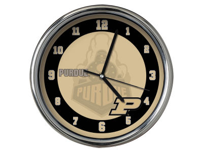 Purdue Boilermakers Chrome Clock II