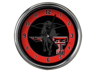 Texas Tech Red Raiders Chrome Clock II