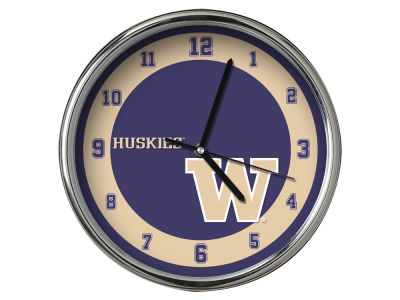 Washington Huskies Chrome Clock II