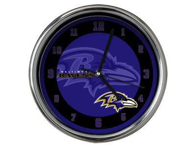 Baltimore Ravens Chrome Clock II