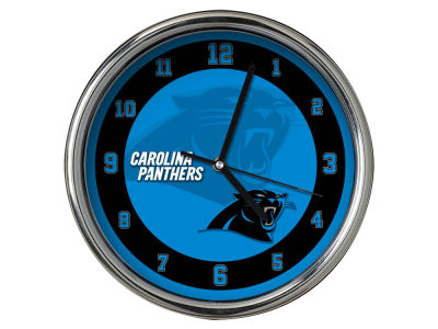 Carolina Panthers Chrome Clock II