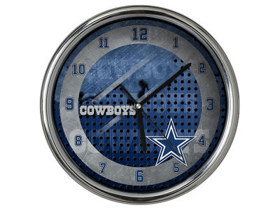 Dallas Cowboys Chrome Clock II