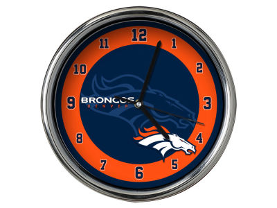 Denver Broncos Chrome Clock II