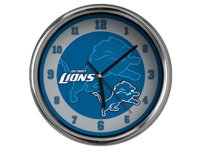 Detroit Lions Chrome Clock II