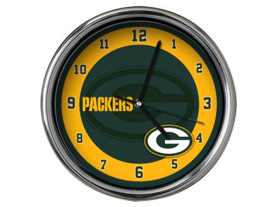 Green Bay Packers Chrome Clock II