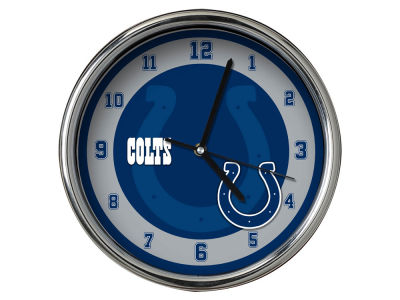 Indianapolis Colts Chrome Clock II