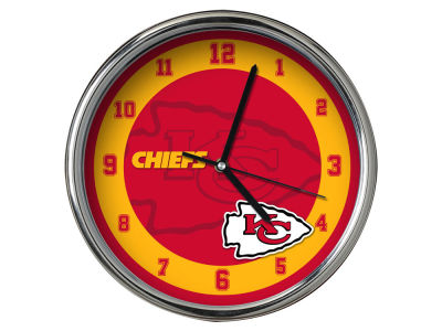 Kansas City Chiefs Chrome Clock II