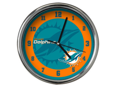 Miami Dolphins Chrome Clock II