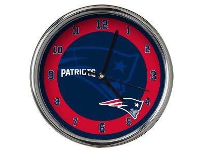 New England Patriots Chrome Clock II