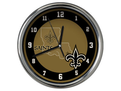 New Orleans Saints Chrome Clock II