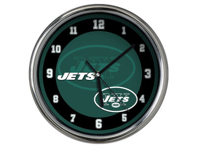 New York Jets Chrome Clock II