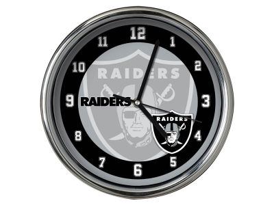 Oakland Raiders Chrome Clock II