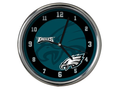 Philadelphia Eagles Chrome Clock II