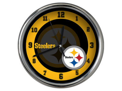 Pittsburgh Steelers Chrome Clock II