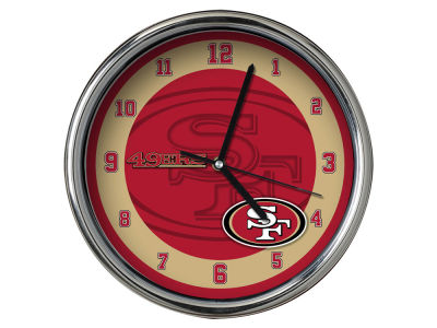 San Francisco 49ers Chrome Clock II
