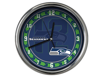 Seattle Seahawks Chrome Clock II