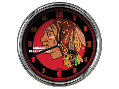 Chicago Blackhawks Chrome Clock II
