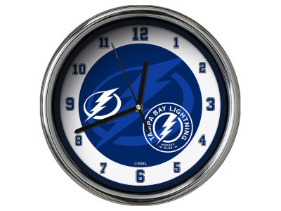 Tampa Bay Lightning Chrome Clock II