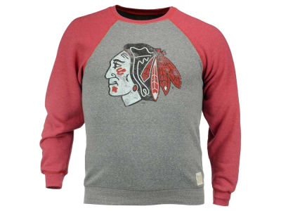 Chicago Blackhawks NHL Men's Triblend Crewneck Fleece Sweatshirt