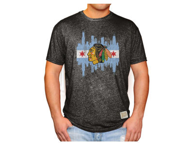 Chicago Blackhawks NHL Men's Mock Twist City Pride II T-Shirt