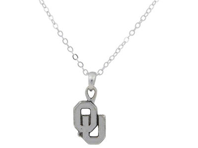 Oklahoma Sooners Gentry Silver Logo Necklace