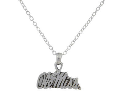 Ole Miss Rebels Gentry Silver Logo Necklace