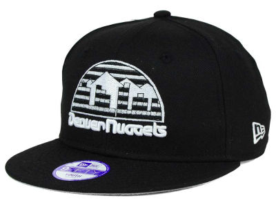 Denver Nuggets New Era NBA HWC Youth Black White 9FIFTY Snapback Cap