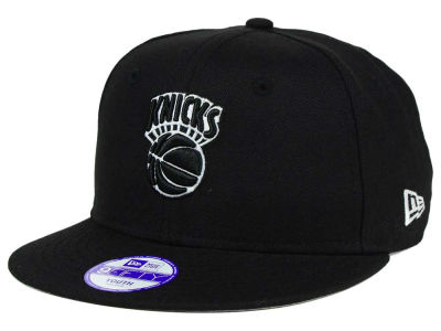 New York Knicks New Era NBA HWC Youth Black White 9FIFTY Snapback Cap
