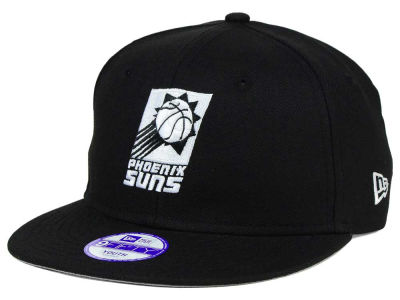Phoenix Suns New Era NBA HWC Youth Black White 9FIFTY Snapback Cap